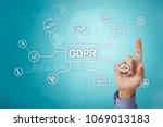 gdpr. data protection... | Shutterstock . vector #1069013183