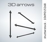simple double sided arrows in... | Shutterstock .eps vector #1069015268