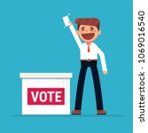 voting concept in flat style  ...   Shutterstock .eps vector #1069016540
