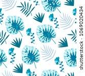 jungle pattern vector seamless... | Shutterstock .eps vector #1069020434