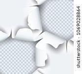 vector illustration of torn... | Shutterstock .eps vector #1069028864