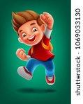 little student illustration  | Shutterstock .eps vector #1069033130