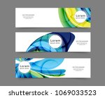 set of abstract web banner... | Shutterstock .eps vector #1069033523
