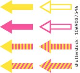 set of filled  striped and... | Shutterstock .eps vector #1069037546
