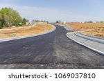 new asphalted street for a new...   Shutterstock . vector #1069037810