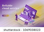 cloud data storage  remote data ...   Shutterstock .eps vector #1069038023