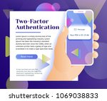 two factor authentication web... | Shutterstock .eps vector #1069038833