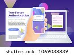 multi factor authentication ... | Shutterstock .eps vector #1069038839