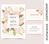 wedding invitation templates... | Shutterstock .eps vector #1069040549