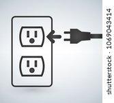 illustration of a 110v power... | Shutterstock .eps vector #1069043414