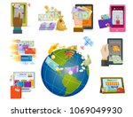mobile payments icons vector... | Shutterstock .eps vector #1069049930
