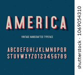 america vintage handcrafted 3d... | Shutterstock .eps vector #1069054310