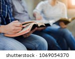 close up of christian group are ... | Shutterstock . vector #1069054370