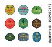 set of vintage wilderness logos.... | Shutterstock .eps vector #1069057676