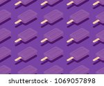 seamless pattern. isometric ice ... | Shutterstock .eps vector #1069057898