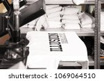 modern printing machine with t... | Shutterstock . vector #1069064510