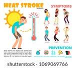 heat stroke and summer... | Shutterstock .eps vector #1069069766