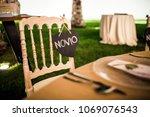 chair groom wedding decoration... | Shutterstock . vector #1069076543