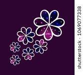 vector illustration  flowers... | Shutterstock .eps vector #1069077338