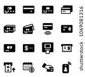 solid vector icon set   credit... | Shutterstock .eps vector #1069081316
