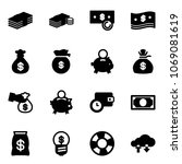 solid vector icon set   dollar...