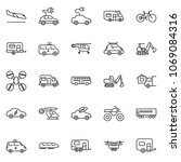 thin line icon set   home... | Shutterstock .eps vector #1069084316