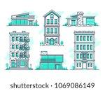 contemporary urban and suburban ... | Shutterstock .eps vector #1069086149
