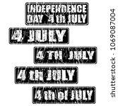 4th of july celebration rubber... | Shutterstock .eps vector #1069087004