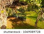 outdoors class for activities... | Shutterstock . vector #1069089728