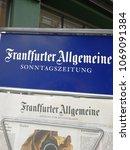 Small photo of Heidelberg, Germany - August 24, 2017: Frankfurter Allgemeine Zeitung sign. Frankfurt General Newspaper, abbreviated FAZ, is a centre-right, liberal-conservative daily German newspaper