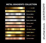 trendy ui gold  bronze and... | Shutterstock .eps vector #1069094099