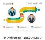 graphic presentation with two... | Shutterstock .eps vector #1069096880