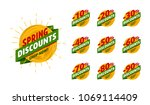 spring discount set with...   Shutterstock .eps vector #1069114409