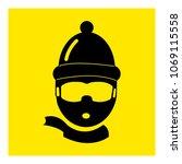 snowboarding face icon vector   Shutterstock .eps vector #1069115558