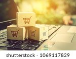 online shopping   ecommerce and ... | Shutterstock . vector #1069117829