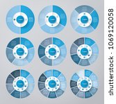 vector circle for infographic... | Shutterstock .eps vector #1069120058