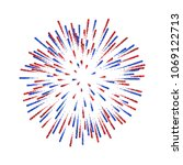 firework isolated. beautiful... | Shutterstock .eps vector #1069122713