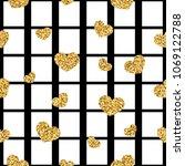 gold heart seamless pattern.... | Shutterstock .eps vector #1069122788