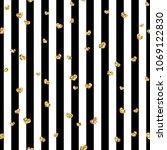 gold heart seamless pattern.... | Shutterstock .eps vector #1069122830