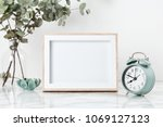 poster frame mockup  front view ... | Shutterstock . vector #1069127123