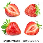 strawberry half collection... | Shutterstock . vector #1069127279