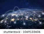 global network concept ... | Shutterstock . vector #1069133606