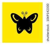 butterfly icon vector | Shutterstock .eps vector #1069142330