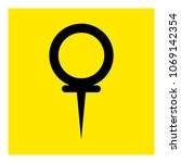 pin location icon vector | Shutterstock .eps vector #1069142354