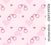 romantic seamless vector... | Shutterstock .eps vector #1069149506