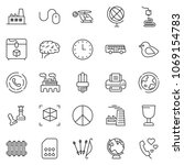 thin line icon set   queen pawn ... | Shutterstock .eps vector #1069154783