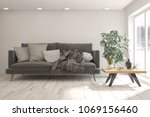 idea of white minimalist room...   Shutterstock . vector #1069156460