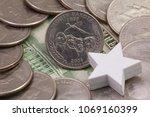 a quarter of south dakota ...   Shutterstock . vector #1069160399