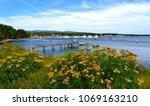 southwest harbor maine | Shutterstock . vector #1069163210