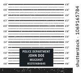 police mugshot board template....   Shutterstock .eps vector #1069165784